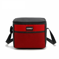 New Model 5L Picnic Breastmilk Students Square Picnic Lunch Cooler Bag best large soft sided red insulated lunch bag for adults