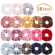 Wholesale Fashion Women Hair Accessories Fabric Solid Colors Elastic Hair Ties Velvet Scrunchies