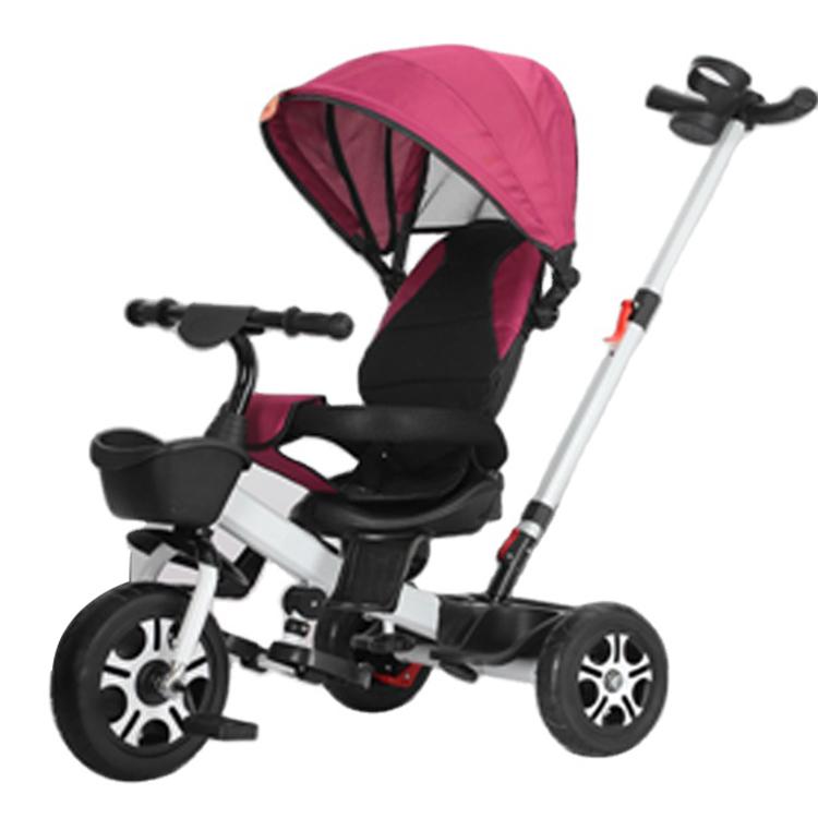 Sepeda Roda Tiga Bayi dengan Pegangan Dorong Dapat Disesuaikan Harga Pabrik dengan Kualitas Tinggi.