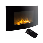 Style Selections Fireplace Remote European Style Selections Led Curved Infrared Recessed Fireplace with Remote and Hanging Electric Fireplace Wall Mounted