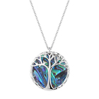 Mothers Day Jewelry Gift Exquisite Natural Sea White Shell Abalone Paua Shell Design Tree Of Life Charm Pendant Necklace