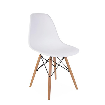 cheap high quality modern colored plastic wooden dining chair for dining room living room