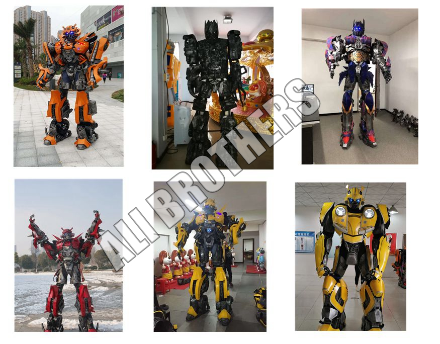 Outdoor park shopping mall Robot clothes Walking Transformers clothes for sale