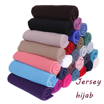 High quality elasticity solid color headscarf women muslim hijab jersey cotton scarf