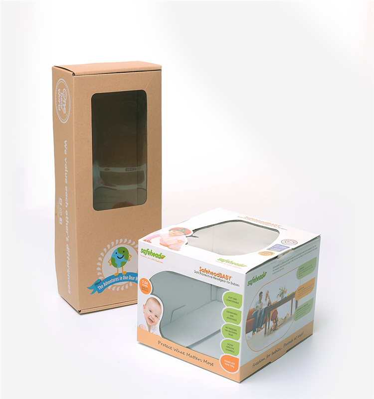 Custom Toys Doll Luxury Packaging Paper Corrugated Cardboard Box With Clear Pvc Window