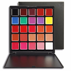 Hot sale flawless moisturizing matte lipstick with 25 colors lipstick palette