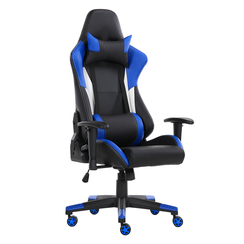 Ultra Comfort Silla Gaming met Hoofdsteun Lendensteun Swivel PC Gamer Stoel