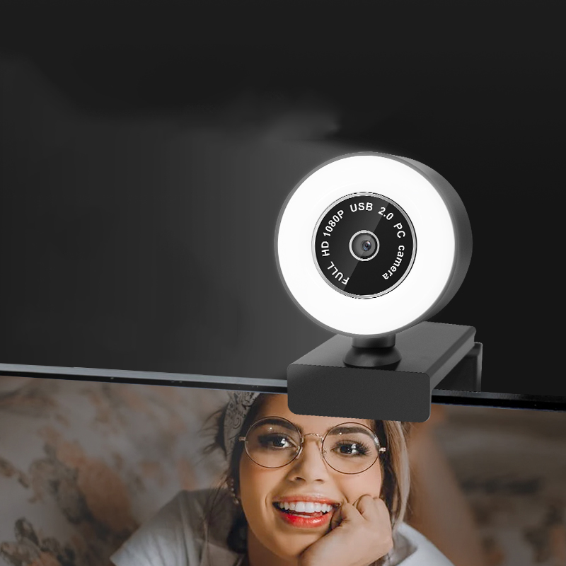 Wholesale Ring Light Full HD 1080P 2K Live Streaming PC USB Webcam with Fill light