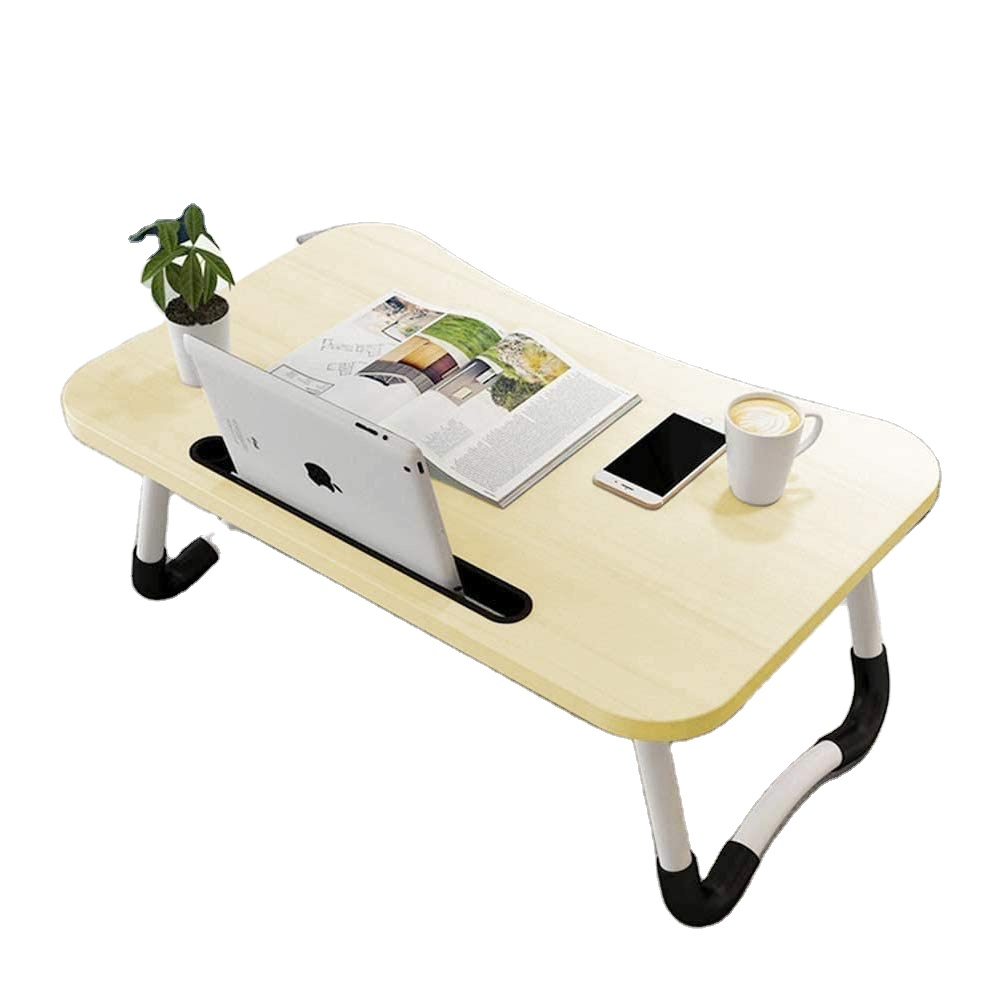 Foldable <strong>Laptop</strong> <strong>Table</strong> For Bed Breakfast Serving Tray, Notebook Computer Stand Reading Holder