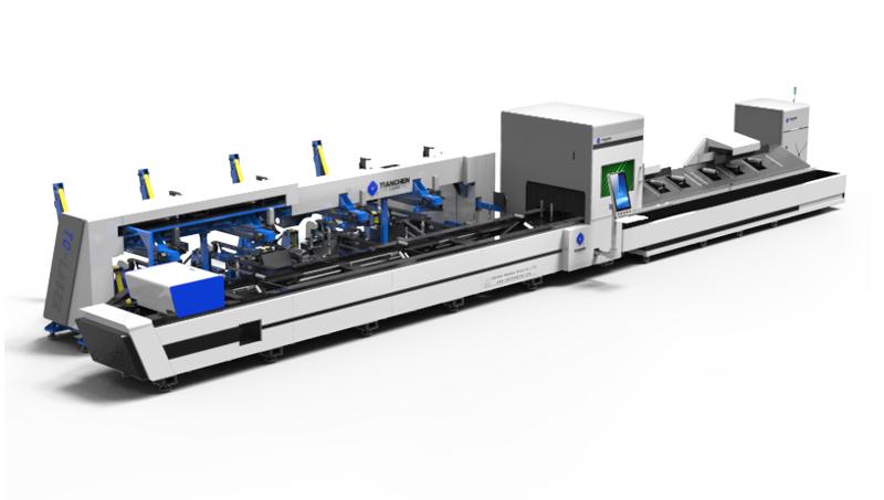 Ağır sanayi makineleri boru tüp lazer kesici kesmek için karbon çelik, paslanmaz çelik