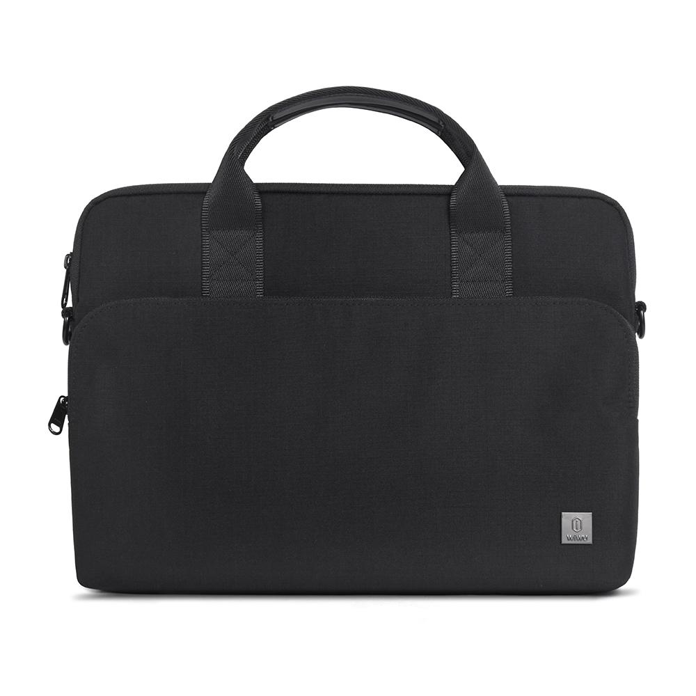 WiWU Waterproof Nylon laptop handbag with shoulder strap Protective military Shockproof bag with front pocket big capacity case