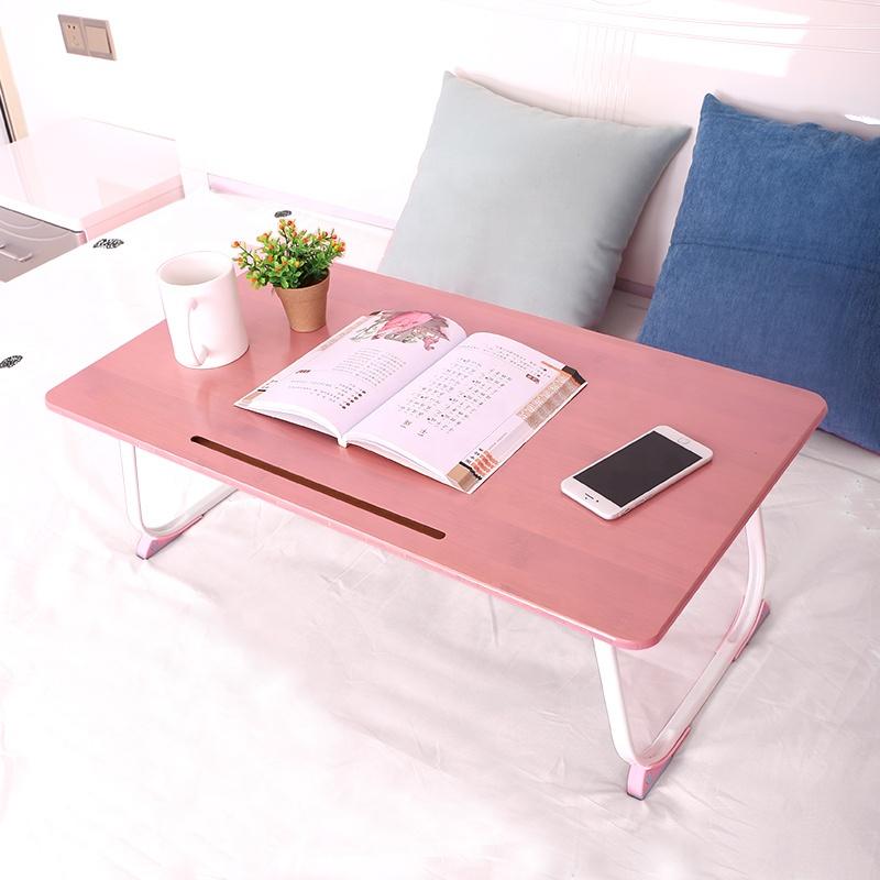 Заводская цена на заказ простой экологичный Регулируемый складной бамбуковый столик для ноутбука для кровати