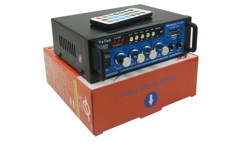 Small size yatao 05T audio amplifier with bluetooth 12v