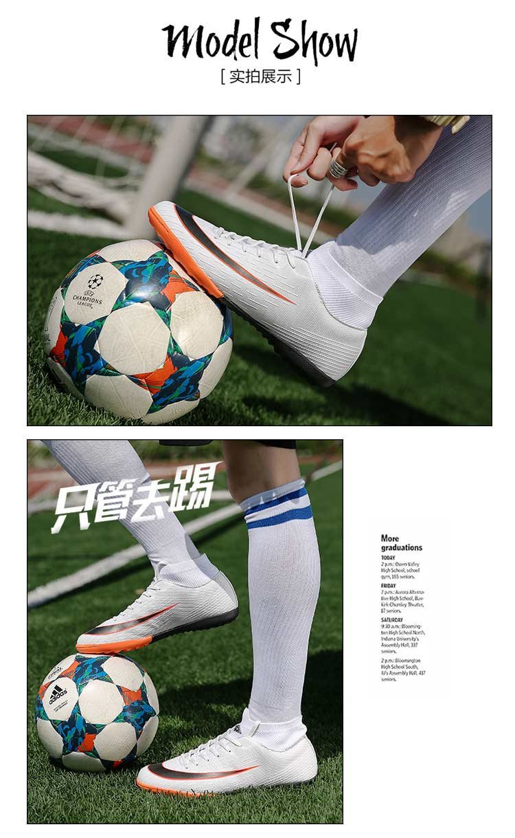 Men Outdoor High Ankle Sport Superfly Original Football Boots Male Soccer Shoes Long Spikes FG Sneakers Trainers Football Shoe