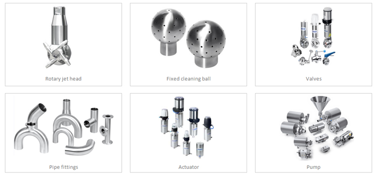 Donjoy SS304 and SS316L  stainless steel tank cleaner sanitary pneumatic globe valve with cleaning ball
