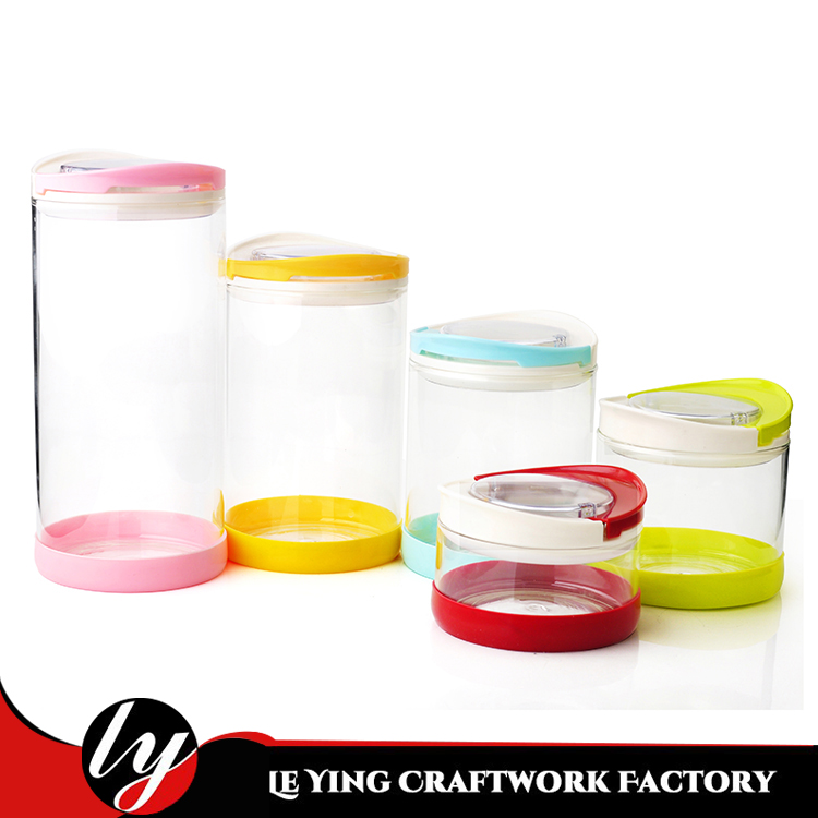 For Kitchen Using Glass Container Food Storage Borosilicate Glass Jar