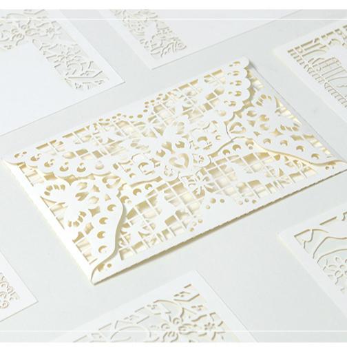 2020 뜨거운 판매 사용자 정의 커팅 레이스 초대 카드