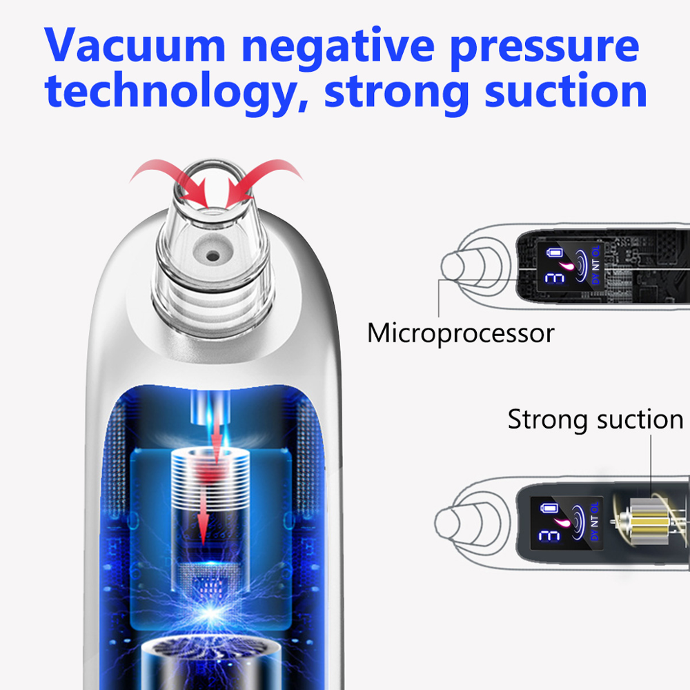 2020 New Electric Blackhead Suction Facial Pores Cleansing Device Vacuum Acne Blackhead Remover