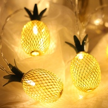 Neue design 2,5 M 20 LED Eisen Ananas Fee thanksgiving string licht