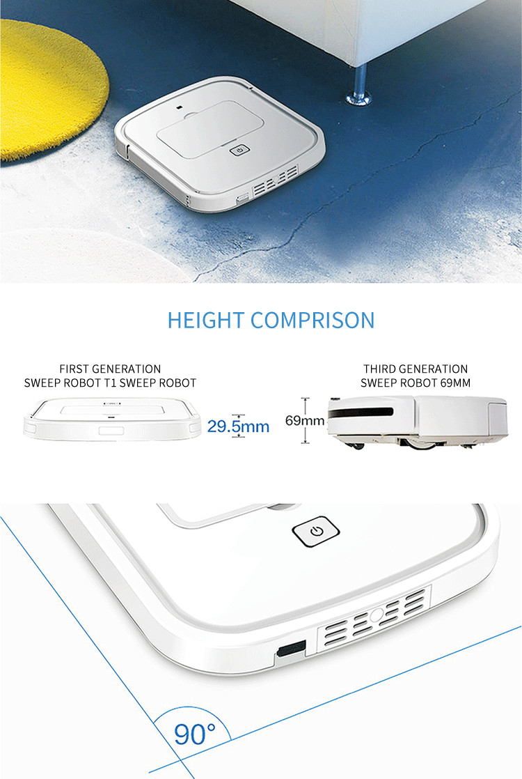 OEM factory customized mini robot vacuum cleaner robot home appliances intelligent mini robot vacuum cleaner