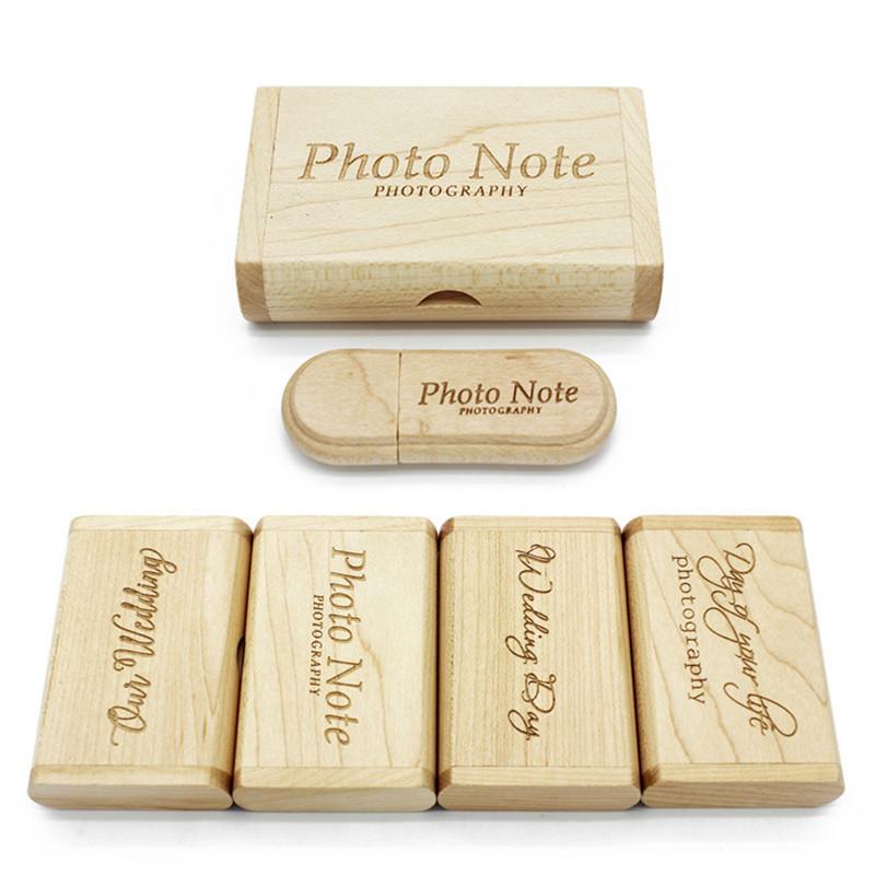 JASTER नि: शुल्क कस्टम लोगो लेजर उत्कीर्णन लकड़ी + बॉक्स pendrive 4GB 8GB 16GB 32GB 64GB यूएसबी फ्लैश ड्राइव फोटोग्राफी उपहार