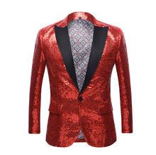 2020 новый костюм с пайетками Блейзер Золотой певец сценическое пальто красный карнавал платье для выпускного вечера Гала вечерние платья на...(China)
