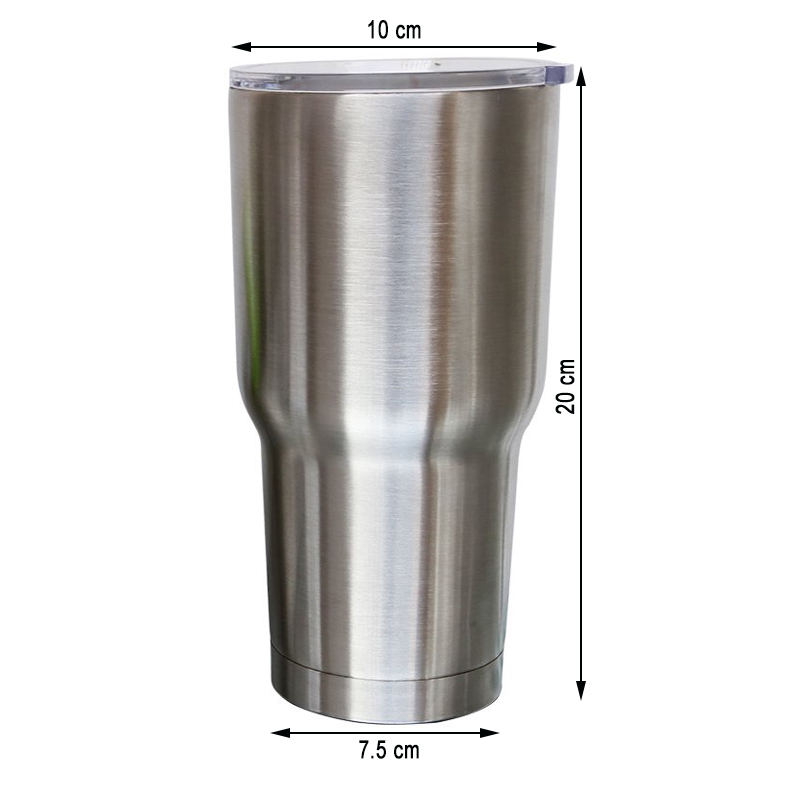 Stainless Steel Cup  30 ounce Double Wall Insulated Tumbler