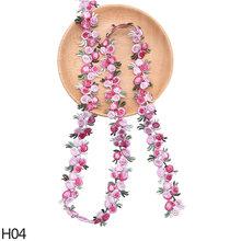 2 ярда красивых водорастворимых цветов, кружевная лента, вышитая обшивка, ручная работа, шитье, аксессуары для одежды, рукоделие(Китай)