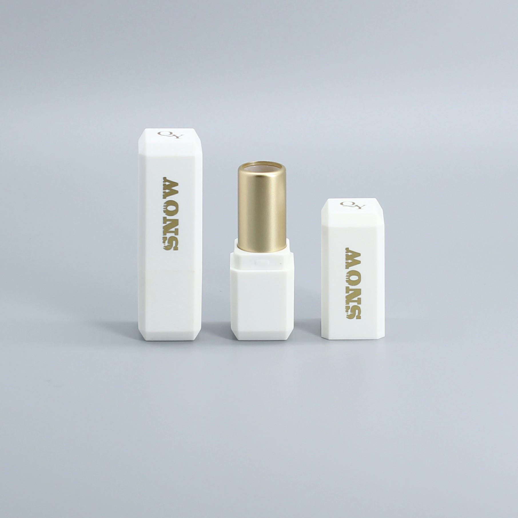लोकप्रिय सफेद उच्च गुणवत्ता कस्टम पैकेजिंग डिजाइन मिनी सोने खाली लिपस्टिक ट्यूब