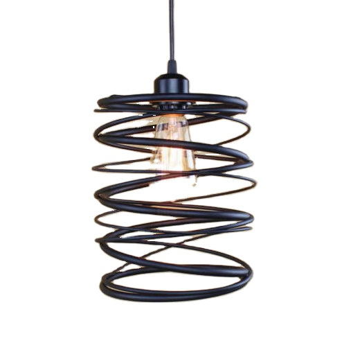 Loft Europe American Retro <strong>Spiral</strong> Hanging Light Pendant <strong>Lamp</strong> Ceiling Lighting