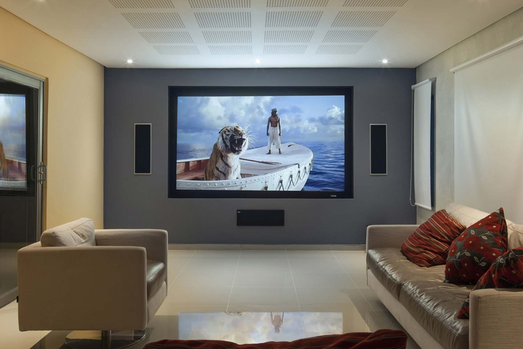 4:3 Cinema Black Velvet Fixed Frame Projector Screen 100 Inch 3D Projection Screen Best For Home Theater