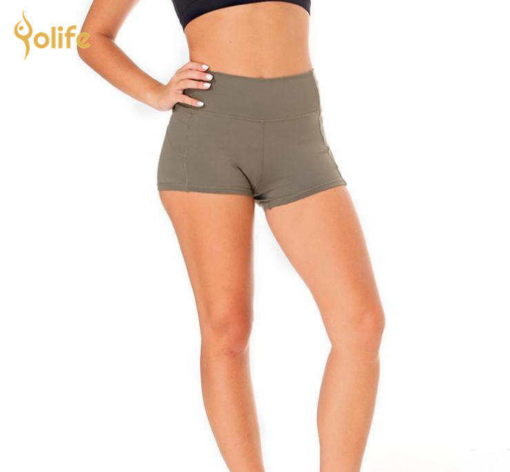 Workout shorts mode gym shorts frauen sexy yoga hosen großhandel blank schweiß shorts