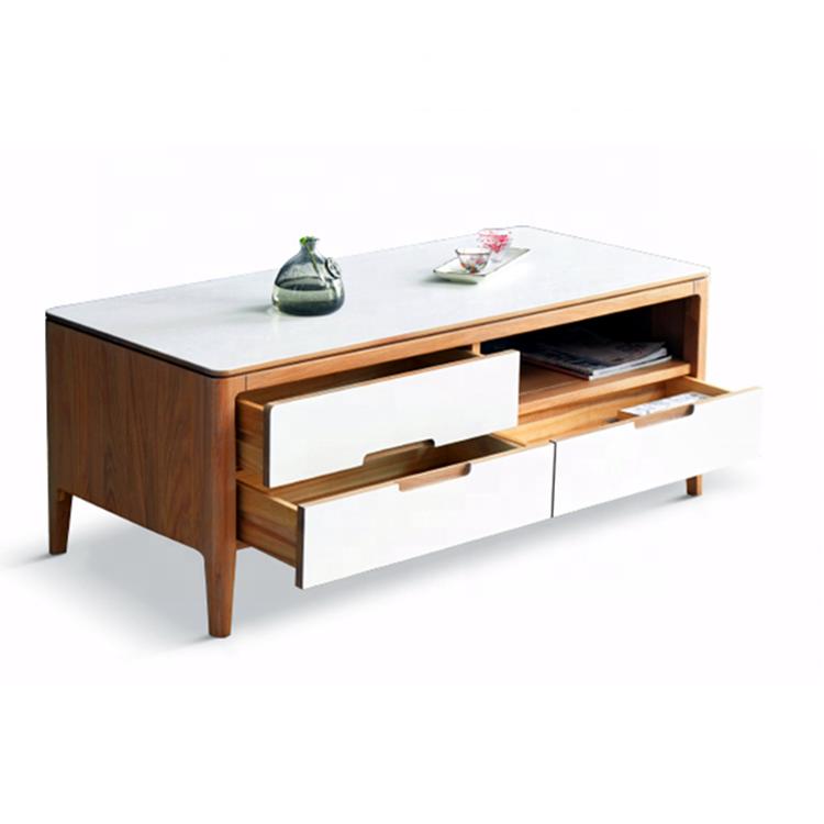 De alta calidad de lujo moderno de roble mesa de té para la sala