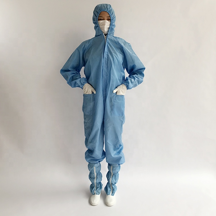 Hot Sale Washable Reusable ESD Anti Static Blue Cleanroom Overall Smock Gown - KingCare | KingCare.net