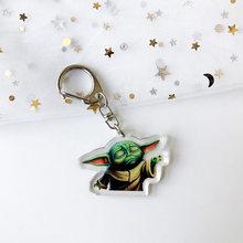 Детский брелок в виде Йоды, милый Звездные войны, Скайуокер, брелок для мужчин и женщин, Модный Аниме, ювелирный брелок, Подарочные игрушки(Китай)