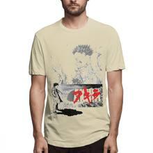Классная мужская футболка с японским аниме Akira, Винтажная футболка, качественная футболка с графическим принтом из 100% хлопка, футболка боль...(Китай)