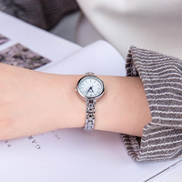 Fashion Ladies Women Unisex Stainless Steel Rhinestone Quartz Wrist Watch Freeshipping