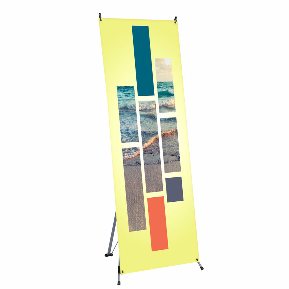 Shanghai factory manufacture display x stand pvc vinyl banner stand
