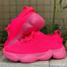 Женские кроссовки MCCKLE, Осенние сетчатые туфли на плоской подошве, повседневная женская обувь на шнуровке, Удобные однотонные женские кросс...(Китай)
