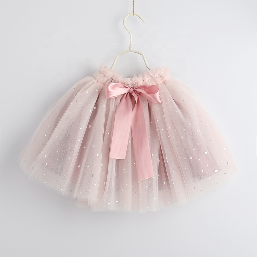 summer girl skirt tulle baby skirts stars kids tutu boutiques children clothes wholesale lots YAo19052533