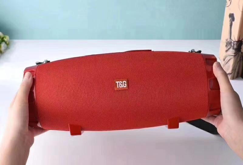 New Arrival Fabric TG526 Wireless Speaker Portable BT Bass speaker TF Card USB FM AUX hands-free tg-526 big sound box 2400mah