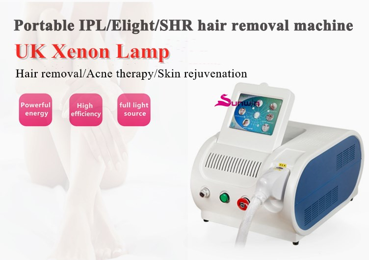 portable ipl laser hair removal skin care machine shr handpiece full body hair removal painless