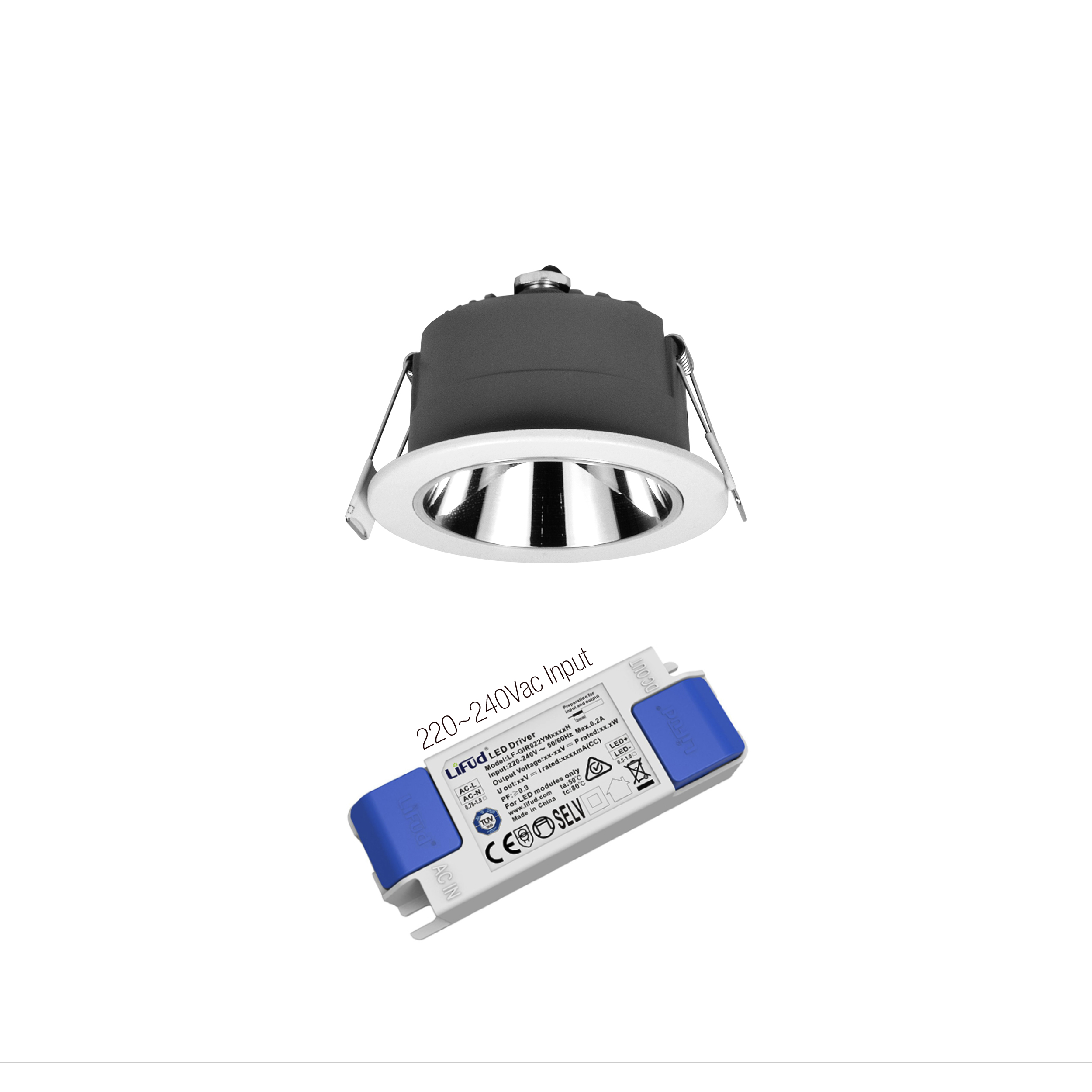 RD3003-0310A2 High Quality Led Downlight anti glare led downlight led down lights with DiaLux service