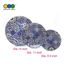 Plastic Plate Whole Sale Top Quality Unbreakable Colorful Disposable Plastic Melamine Dinner Pizza Plate