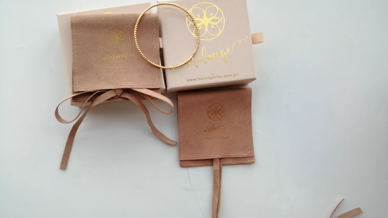 Fashion Custom Roze Papier Sieraden Doos Met Lint Gift Verpakking
