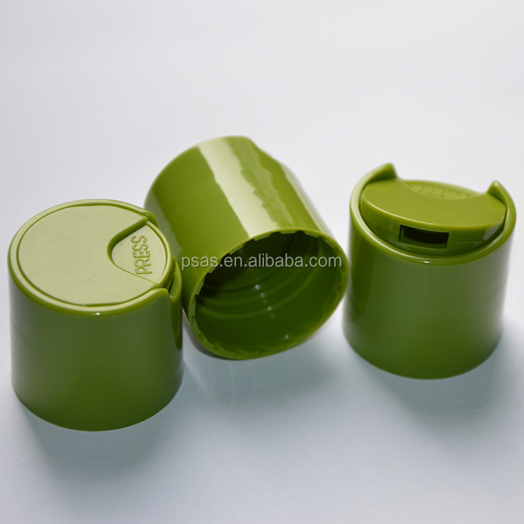 Different type plastic bottle cap/ disc cap closure press lid