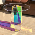 Transparent Furniture Acrylic Side Table Coffee Table Iridescent Color Coffee Table