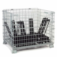folding wire container 48x40x42-1/2 5000 Lb Capacity Bulk wire mesh cage