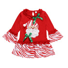 Wholesale children Christmas outfit deer print fabric winter baby clothing set baby clothes set girl tTop pants set 2pcs