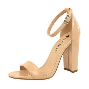 0509-1 Women's shoes summer high heels fashion simple thick heel high heel sexy nightclub word strap sandals
